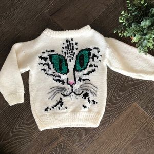 Other - over sized Hand knit cat sweater